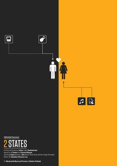 Akshar Pathak is a graphic designer who runs a website called Minimal Bollywood Posters. These are some of his posters which we think are unquestionably brilliant. Iconic Movie Posters, Minimal Movie Posters, Minimal Poster, Movie Poster Art, Iconic Movies, 2 States Movie, Blade Runner Wallpaper, Hd Wallpaper Quotes, Guess The Movie