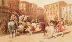 Pharamond Blanchard- Picadores en la plaza. 1847.