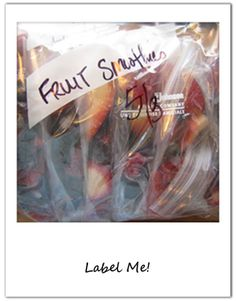 Label fruits and vegetables before freezing