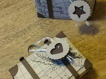 Kleine Kofferverpackung Creative Things, Etsy, Vintage, Handmade Gifts, Suitcases, Packaging, Draw, Basteln, Vintage Comics