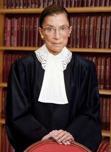 Ruth Bader Ginsburg: professor, women's rights activist, Associate Justice of the Supreme Court.