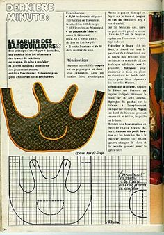 Couture on pinterest tuto sac patron couture and tuto for Tablier de cuisine patron gratuit