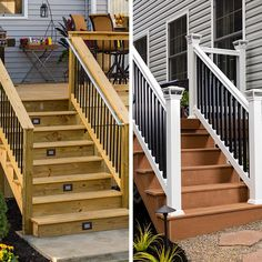 Superior Deck Railings Upgraded With Metal And Contrasting Balusters. Deck Stairs,  Wood Deck Railing,