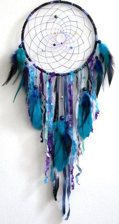 dream catcher - purple and teal!