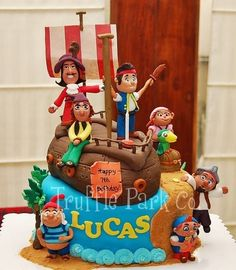 peter pan pirate cake