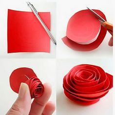 Как делать цветы из бумаги своими руками из бумаги