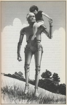 Ralph McQuarrie illustrations for Robot Visions by Isaac Asimov