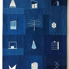 A new indigo Shape Study. x Dyed with before they said goodbye to Brooklyn. The purest blue. Erin Wilson, Indigo Dye, Shades Of Blue, Blue And White, Pure Products, Shapes, Quilts, Instagram Posts, Brooklyn