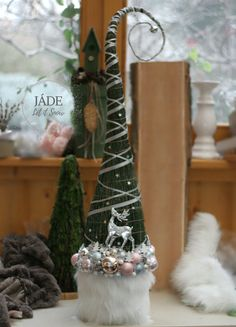 #grinchtree Grinch Trees, Ladder Decor, Christmas Time, Advent, Jade, Plants, Plant, Planets