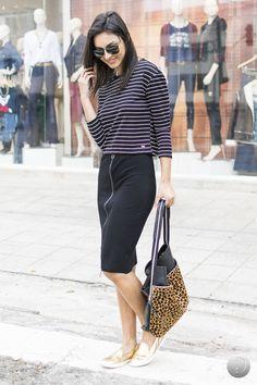#debrummodas #inverno #saia #lápis #listras #stripes #estampada #style #estilo #moda #fashion #modafeminina