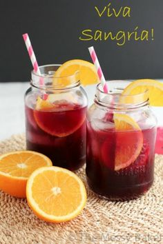 End of Summer Sangria. Sweet fruity sangria made perfect for back porch sippin'. Summer Sangria, Summer Drinks, Fun Drinks, Beverages, Sweet Red Wines, Food Carving, Cheap Wine, Orange Slices, Refreshing Drinks