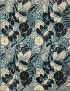 Textile design by Raoul Dufy (French, 1877-1953)