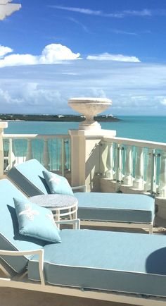 The Shore Club - guest room balcony overlooking Long Bay Beach, Turks & Caicos