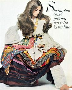 Photo by Gianni Penati. Dress, SantAngelo Vogue Italia, May 1969