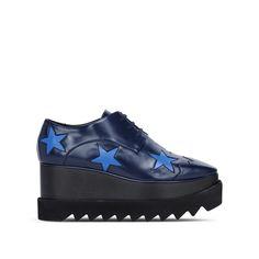 STELLA MCCARTNEY Blue Elyse Star Shoes. #stellamccartney #shoes #wedges