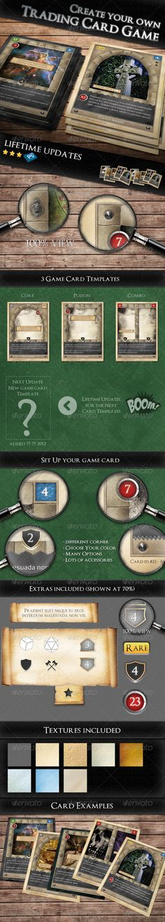 How to Make Your Own TCG (Trading Card Game) | Trading cards ...