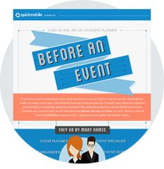 A Day in the Life of an Event Planner: Before an Event #eventprofs #infographic