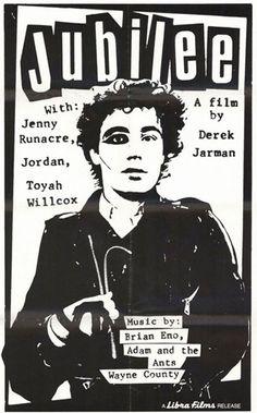 Film Poster - Jubilee, directed by Derek Jarman -1978