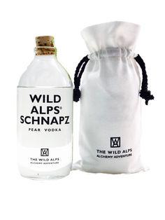 WILD ALPS® SCHNAPZ in Canvas Sachet 500 ML, 40% vol Tonic Water, Pear Vodka, Alps, Canvas, Pear, Tela, Canvases