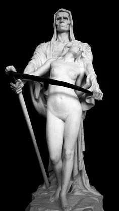Death and the Maiden; a momento mori.