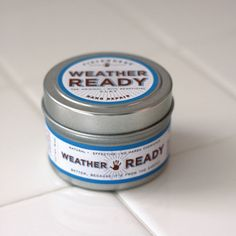 Weather-Ready Hand Repair. An all-natural balm made with beneficial herbal extracts and bentonite clay to soothe, moisturize and help heal dry, cracked skin. Made in small batches. From Fieldworks Supply Company, Portland, Oregon.