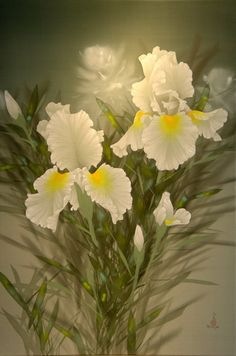 Floral painting by artist David Lee.