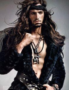 Marius Hordijk - very Viking invader, romance-novel style.