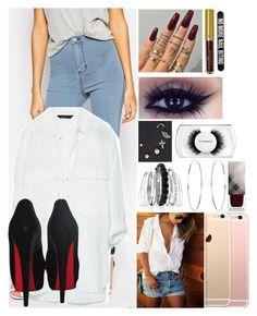 """06.011.2015"" by brubisbruu ❤ liked on Polyvore featuring ASOS, Zara, Christian Louboutin, Avenue, Accessorize, Burberry, MAC Cosmetics and Bershka"