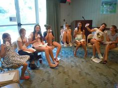 The Hampton teens get ready to babysit.
