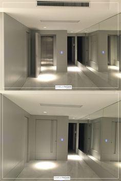 Finalizando a obra. | Hall do Elevador Privativo #izabelapagani #izabelapaganiarquitetos #arqdesign #design #designdeinteriores #marcenaria #iluminação #assimeugosto #designporn #CFL #TheView #designseek #suvinil #espelho #laca #revestimento #living #home #arquiteturacontemporânea #kitchens #contemporâneo #architecture #homedesign #interiordesign #homedecor #casaecia #elevadorprivativo #elevador #hall #hallsocial #aconchegante