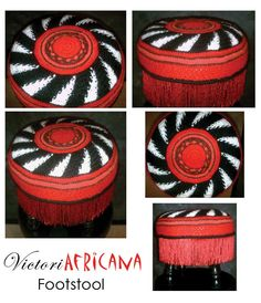 Crochet Guild Of America : VictoriAfricana Footstool for Crochet Guild of America 2009 Design ...