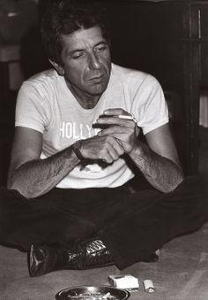 "kafkasapartment: ""Leonard Cohen, 1979. Tony Grylla. Gelatin silver print """