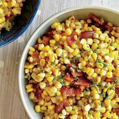 Fresh Corn Saute with Bacon and Chives   MyRecipes.com