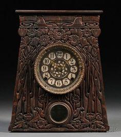 Artisan Arts & Crafts Movement Mantel Clock - art and craft - Vintage Clock Arts And Crafts Movement, Marie Von Ebner Eschenbach, Decoration, Art Decor, Art Nouveau, Tick Tock Clock, Father Time, Art And Craft Design, Craft Art