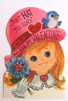 vintage valentine cards from the 60s  Vintage Valentines Day