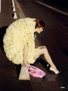Viktor & Rolf ruffled tulle dress by Gregory Derkenne for Citizen K, December 2009 Repinned by www.fashion.net
