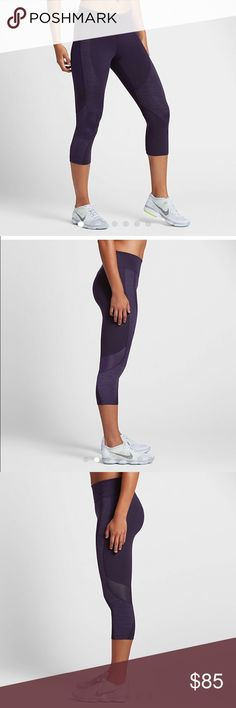 NWT Nike Power Legendary Training Capris NWT tight fitting designed to hug your body from hip to hem for a supportive, flattering fit. Mesh panels! Nike Pants Capris
