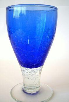 INDIVIDUALLY Hand Blown Wine Glass - Grace (Cobalt) £8.00