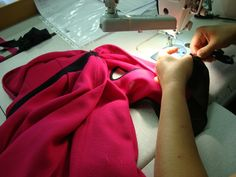 Seamstress at work. Attention to details Proudly Made in Italy