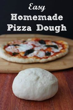 With this Easy Homemade Pizza Dough Recipe you can easily make your own delicious pizzas at home. No more need for frozen or delivery!