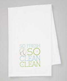 Blue Fresh & Clean Towel by Love you a Latte #zulily #zulilyfinds