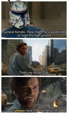 Always have the high ground : PrequelMemes