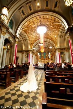 weekend wedding shots by rick takagi, st james cathedral in seattle.