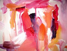 Red, Pink, Peach Abstract Painting