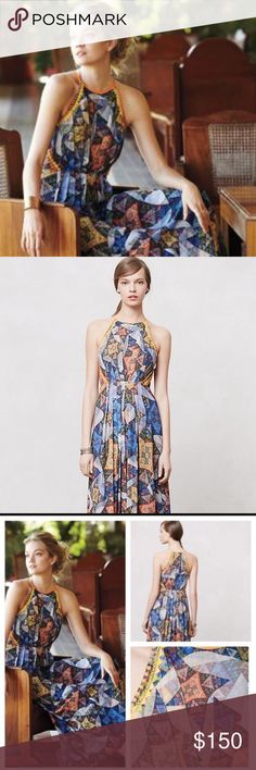 """Ranna Gill maxi dress Ranna Gill maxi dress. Size small, 56"""" long. Hidden side zipper, fully lined. Anthropologie Dresses Maxi"""