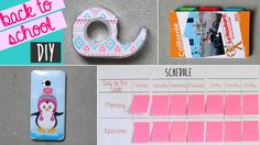 DIY : Back to school | There are 4 DIY tutorial to help you getting ready to get back to school : bookmarcks, tape dispenser customisation, phone case, schedule