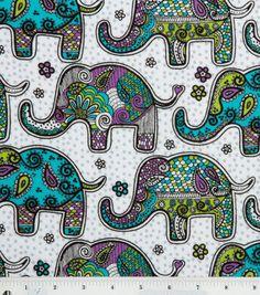 Snuggle Flannel Fabric-Elephants Texture, , hi-res Elephant Baby Blanket, Elephant Fabric, Elephant Nursery, Baby Girl Blankets, Elephant Mobile, Elephant Art, Flannel Blanket, Swaddle Blanket, Weighted Blanket
