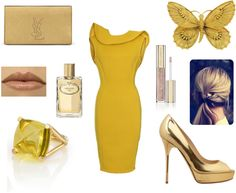 """""""Golden girl"""" by costisjewelry on Polyvore"""