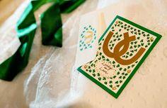 horseshoe wedding invitation