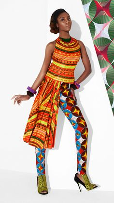beautiful sleeveless top and high-waist fitted pants ~Latest African Fashion, African Prints, African fashion styles, African clothing, Nigerian style, Ghanaian fashion, African women dresses, African Bags, African shoes, Nigerian fashion, Ankara, Kitenge, Aso okè, Kenté, brocade. ~DKK